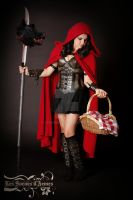 little red riding hood  leather outfit cosplay by Lagueuse
