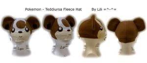 Teddiursa Hat by LiliNeko