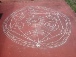 Human transmutation circle by Kuro-fukurou