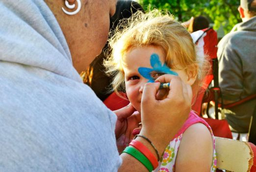 Face Painting by raynamarshall