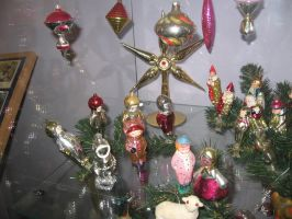 Christmas tree decorations 60s by RattytheScourge