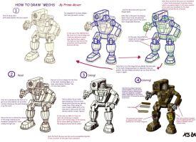 How to draw Battlemechs by Prime-Mover