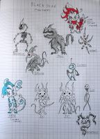 Early Black Star Monster Designs by Toothless6reach