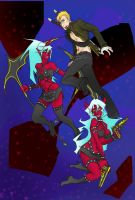 Scanty, Kneesock, and Brian by pinappleapple