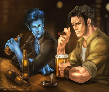 Kurt and Logan....and beer by annecain
