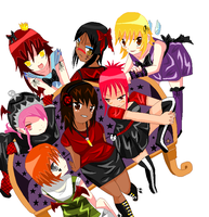 Me and The OCs by PhantomKira1412