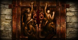 LotM - Hell's Cathedral Doors by worksofheart