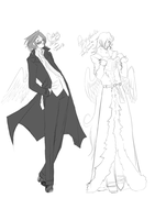 Good Omens FanArt? Hell Yes. by RenaInnocenti
