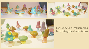 FanExpo2010 - Mushrooms - SOLD OUT by Bittythings