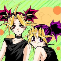 ~Yami And Yugi With There Hair In Ponytalis~ by SidneyQueenGamer1
