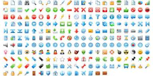 16x16 Free Application Icons by Ikont