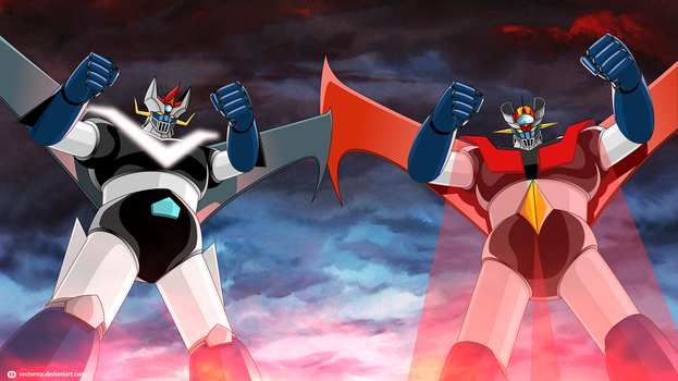 Great Mazinger - Mazinger Z team up by vectormz