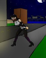 Blake in a bind at night by gdude15