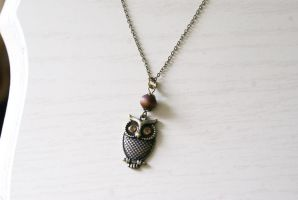 Owl Woods Necklace by MonsterBrandCrafts
