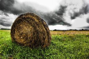 Hay Bale HDR by SparkVillage