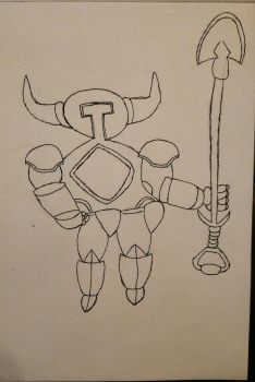 Shovel Knight (no color) by ninjazrule15
