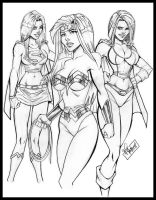 DC Sexy Girls by WillNoName
