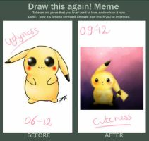 Draw this again- pikachu by expectatinqs