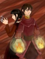 ItFN - Zuko and Mai by river-bird