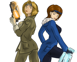 Captain Cold and Heatwave genderbended by BIazeRod