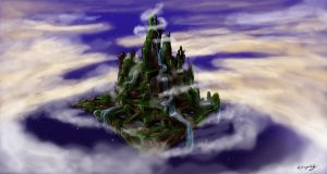 The Flying Island by LightMagicalLady