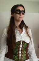 Steampunk mask and corset by LillysWorkshop