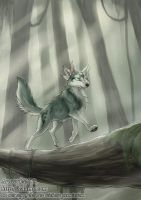 Little spirit in the forest by J-C