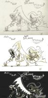 Noche vs red sketches by TheInfamousJoeLinder