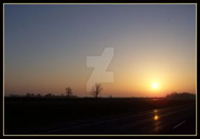 sunrise on the road 2 by jgrockphotos