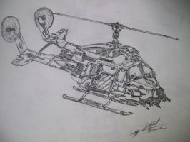 Dual-Bladed Helicopter Concept by josiahherman