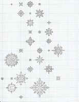 Falling Snow Outline by callianassa