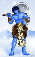 Kinak, the Ice Titan by Blazbaros