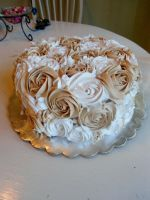 Cappuccino Rose Cake by PnJLover
