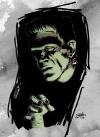 FRANKENSTEIN IN COLOR by mister-bones