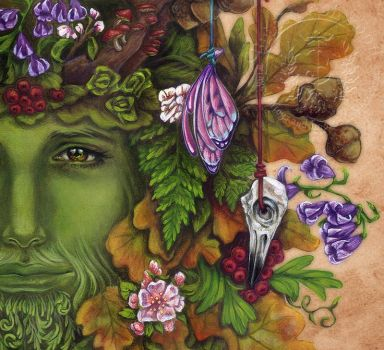 The Greenman - High Res Piece by brigidashwood