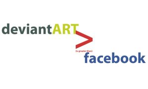 deviantART is greater facebook by unfulfilledcanvas