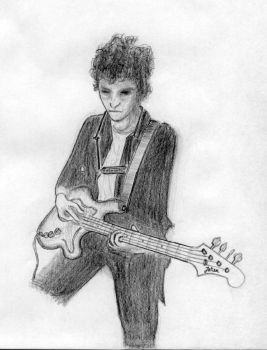 Bob Dylan with bass by TheFishSlappee