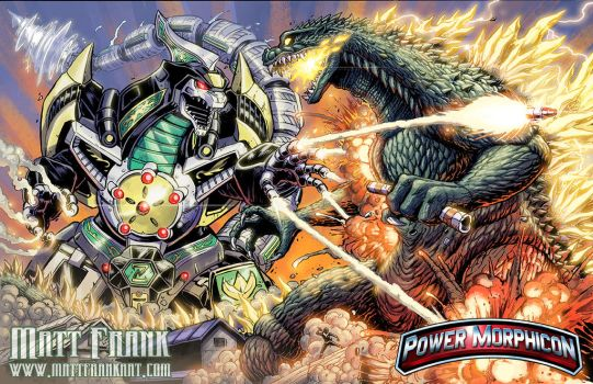 Dragonzord Vs Godzilla Power Morphicon by KaijuSamurai