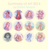 Summary of Art 2014 by DaryaSpace