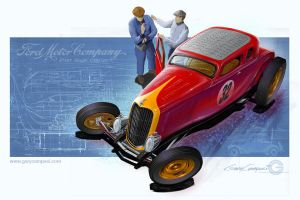 1932 Ford Five Window Coupe by GaryCampesi