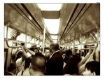 Crowded NYC Subway by hh