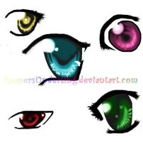 eyes practice by ReapersUnderling