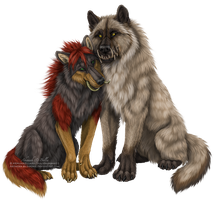 Ahnnah and Bella by Sidonie