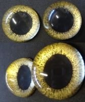 4cm 3d large pupil gold by DreamVisionCreations