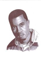 kanye West pen Portrait by Craig-Stannard