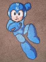Perler Megaman gets a powerup by zaghrenaut