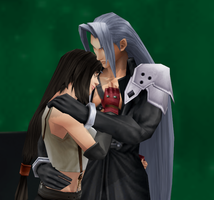 Request2 Tifa - Sephiroth by nasiamarie88