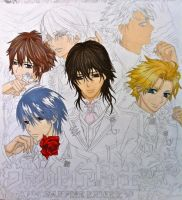 Vampire Knight Boys - WIP by Ellwell