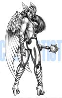 Hawkwoman by Cahnartist