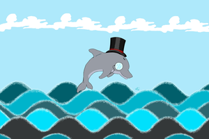 Fancy Dolphin by Fielga